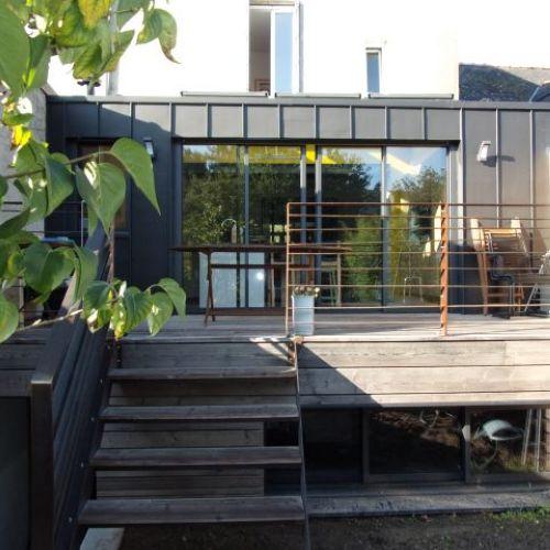 Extension d'une maison en bord de loire